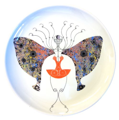 plate with butterfly