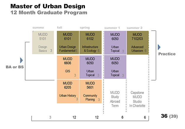 Master of Urban Design curriculum