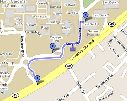 Google Map to Robinson Hall for the Performing Arts