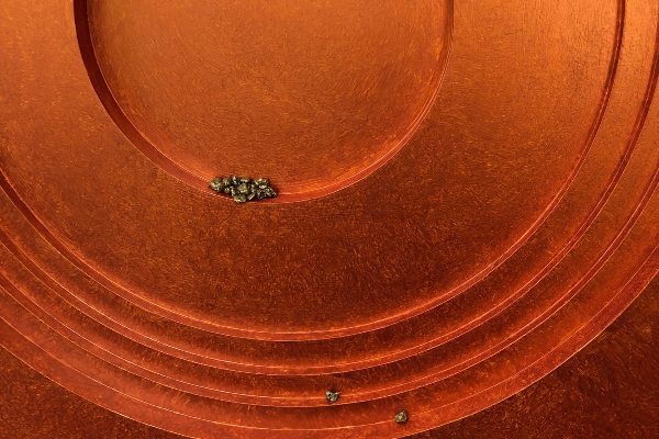 copper plate with beads