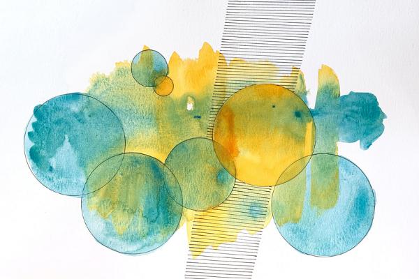 telloe and blue circles