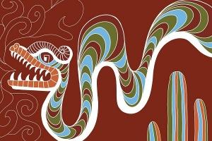 Mexican dragon street art