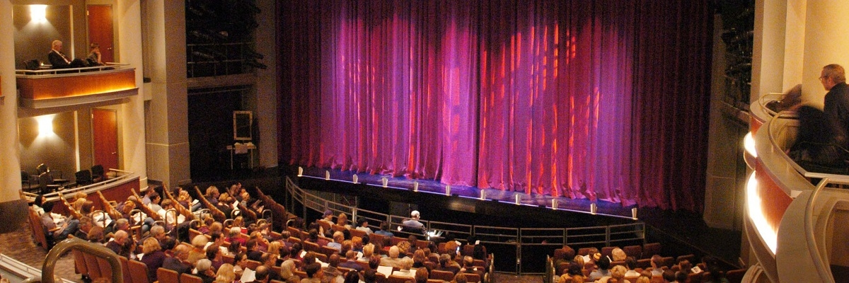 stage with curtains