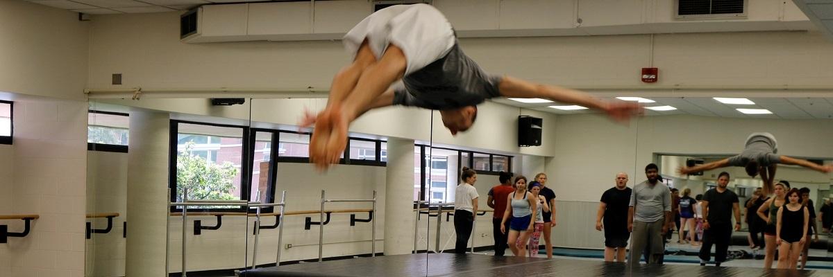 student acrobat
