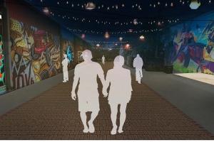rendering of Gordon Street alley