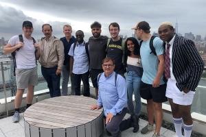 Professor Chris Jarrett and Students in NYC