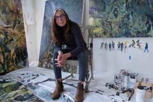 Maja Godlewska in her studio