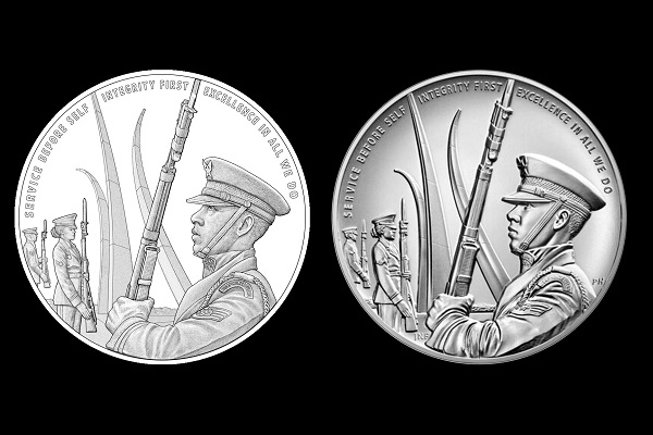 US Air Force medal, reverse side