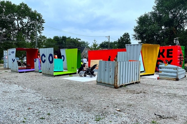 shipping container installation in Chicago