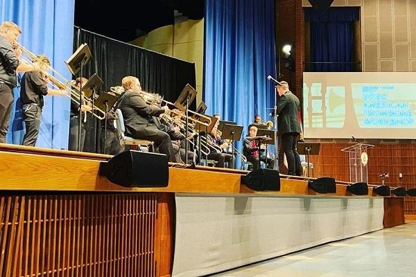 Trombone Ensemble performing